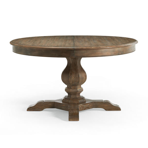 Dining Table: Dining Table Round Leaf