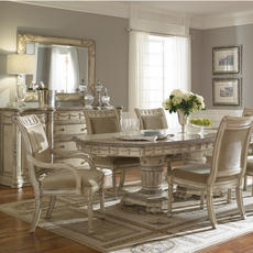 Empire II Double Pedestal Dining Table Schnadig Home Collections