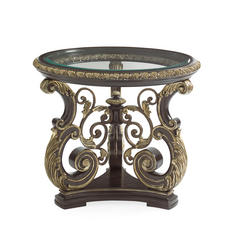 Mezzanotte Round Lamp Table